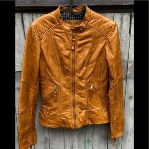 Danier  biker style leather jacket measurements included